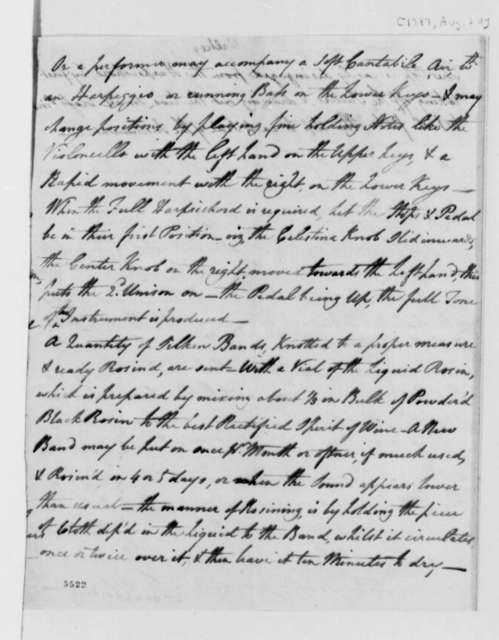 Adam Walker to Thomas Jefferson, August 20, 1787