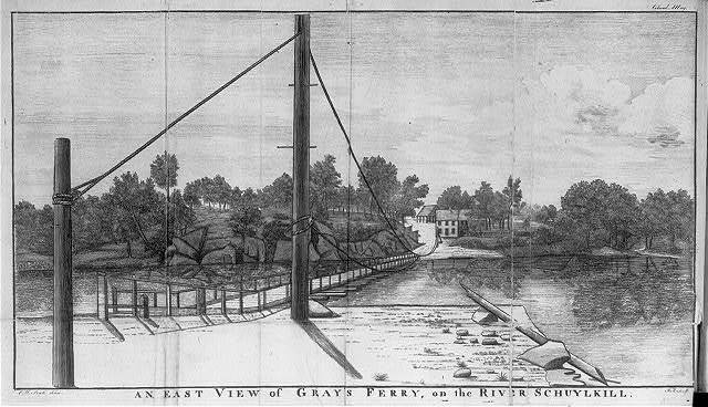 An east view of Gray's Ferry, on the river Schuylkill / C.W. Peale delin. ; J.T. sculp.