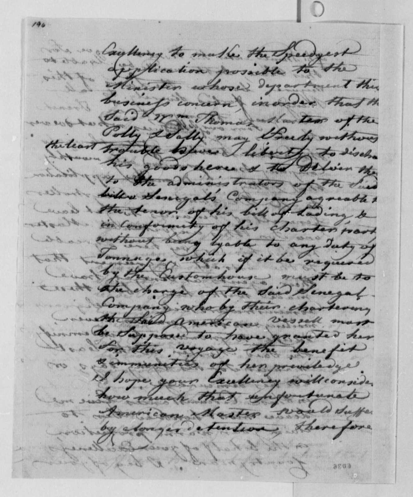 Andre Limozin to Thomas Jefferson, December 18, 1787