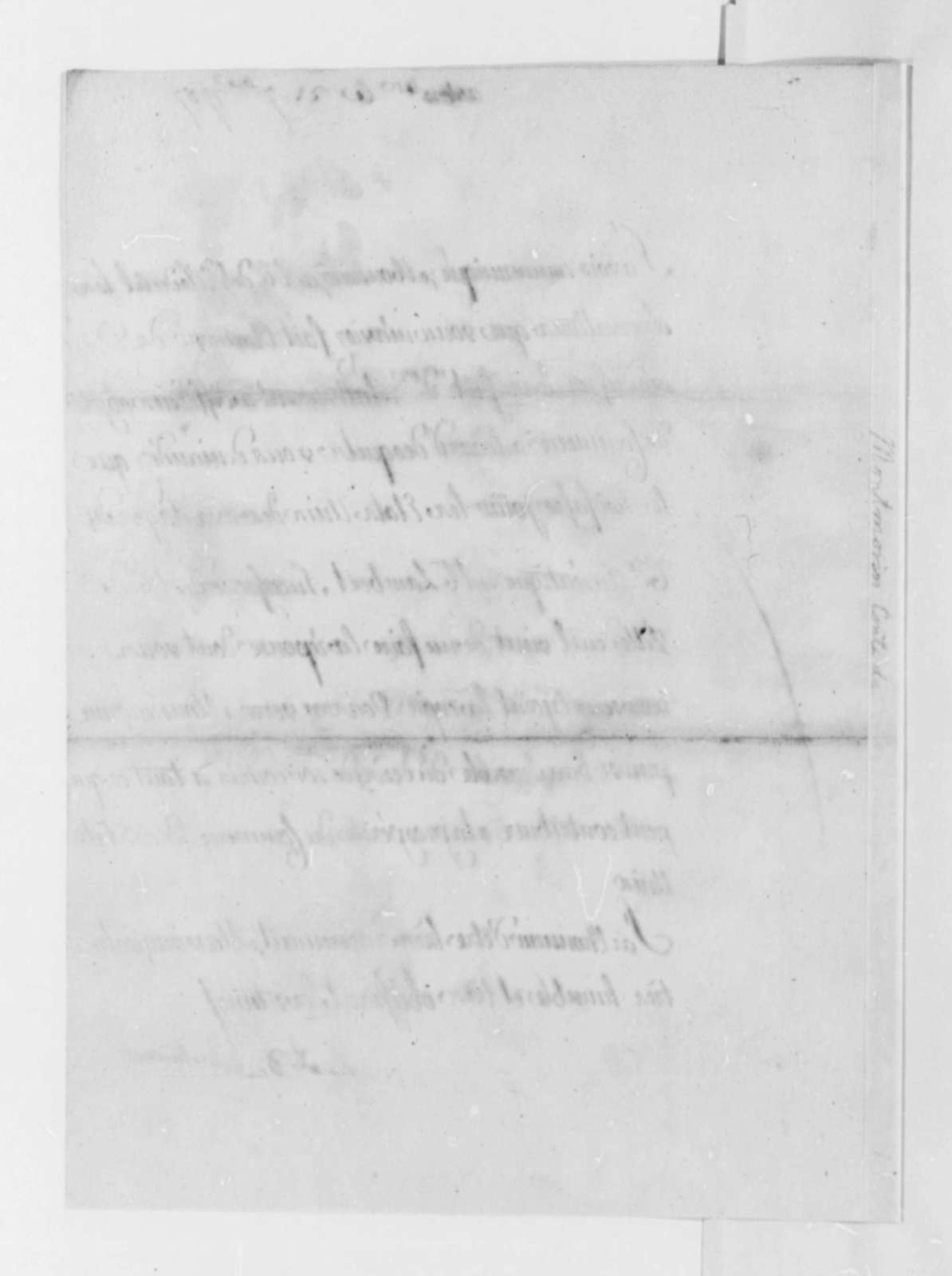 Armand-Marc, Comte de Montmorin-Saint-Herem to Thomas Jefferson, September 21, 1787, in French; with Copy