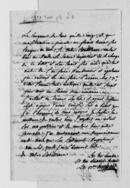Baroness de Colmare to Thomas Jefferson, August 28, 1787