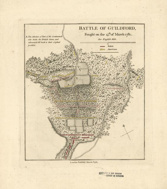 Battle of Guildford, fought on the 15th of March 1781.