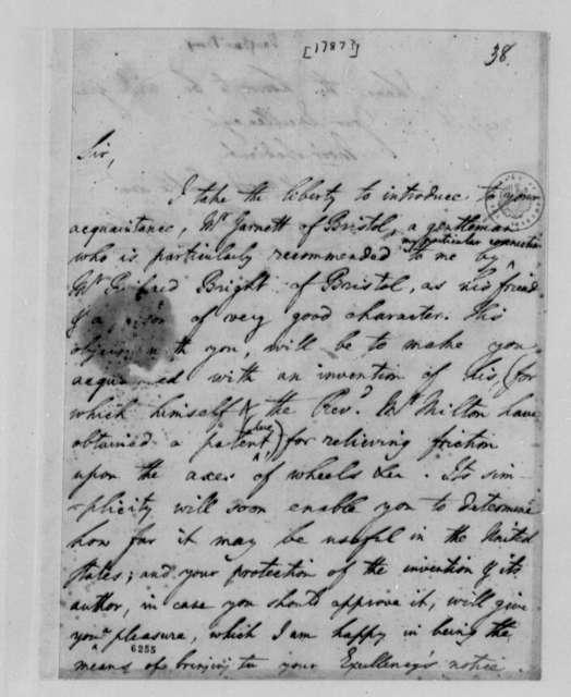 Benjamin Vaughan to Thomas Jefferson, 1787