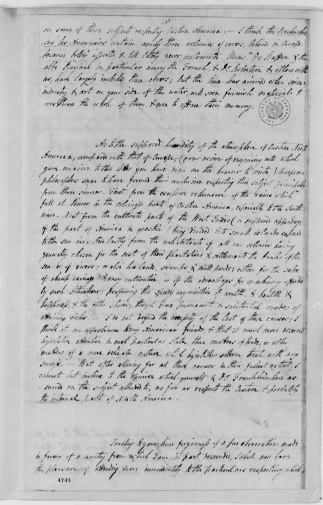 Benjamin Vaughan to Thomas Jefferson, January 26, 1787