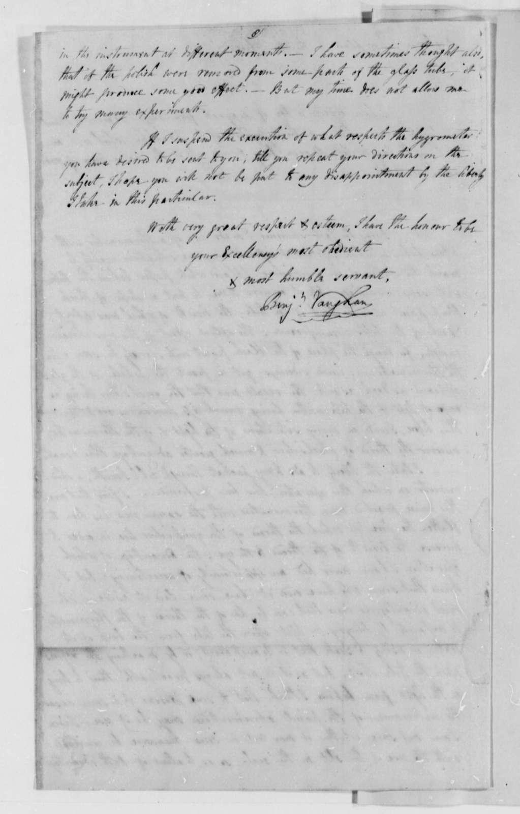 Benjamin Vaughan to Thomas Jefferson, January 26, 1787