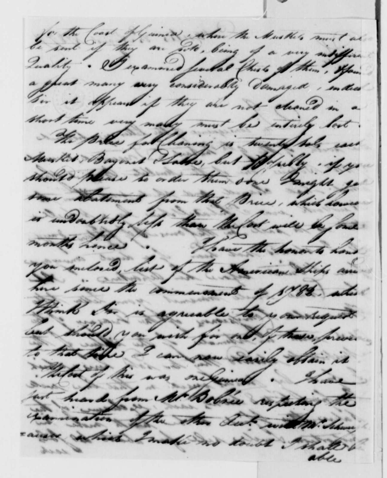 Burrill Carnes to Thomas Jefferson, August 23, 1787