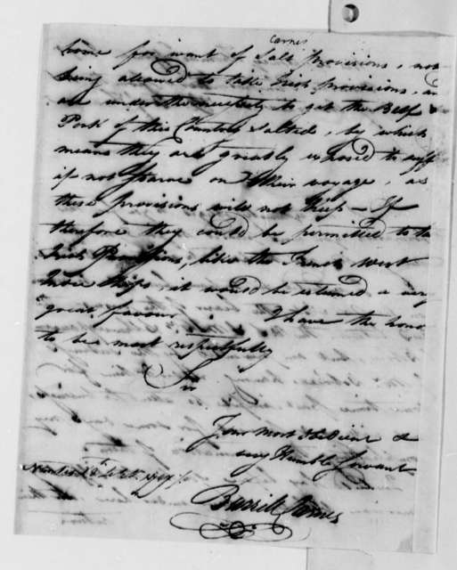 Burrill Carnes to Thomas Jefferson, September 28, 1787