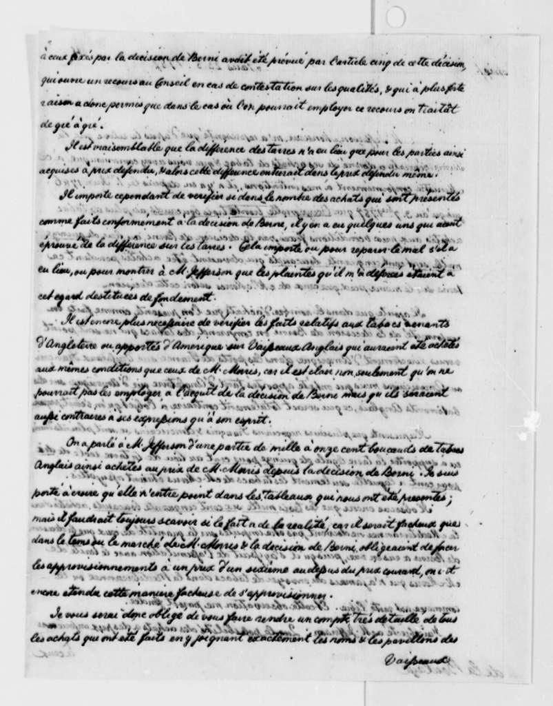Charles G. Lambert to La Boullaye, October 23, 1787, with Copy