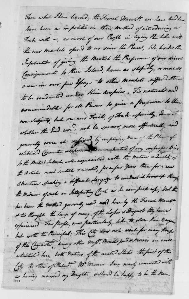 Christopher Gadsden to Thomas Jefferson, October 29, 1787