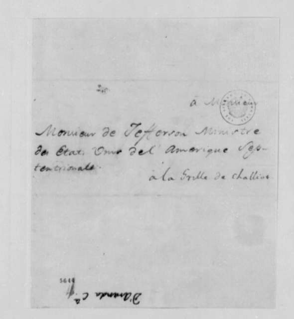 Conde d'Aranda to Thomas Jefferson, September 19, 1787, in French