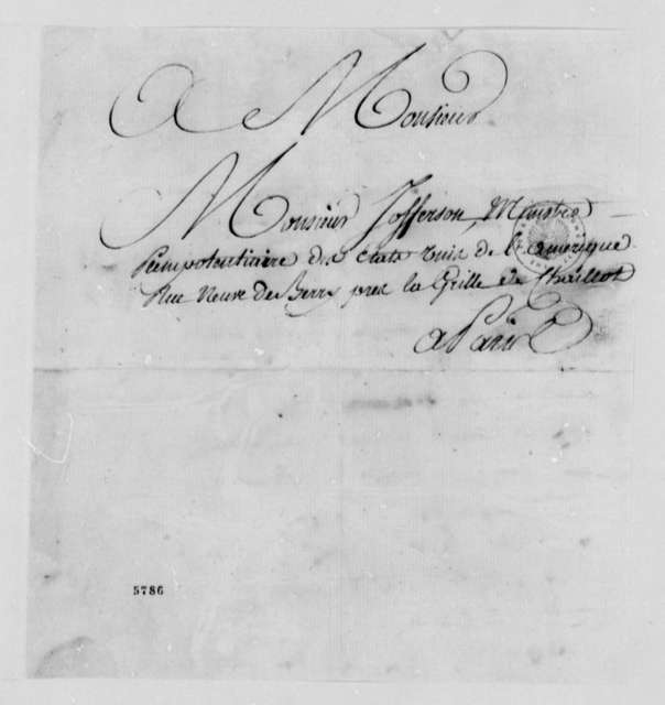 Conde de Fernan-Nunez to Thomas Jefferson, October 15, 1787, in French