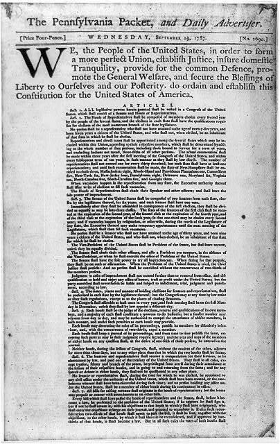 Constitution of the U.S., p. 1