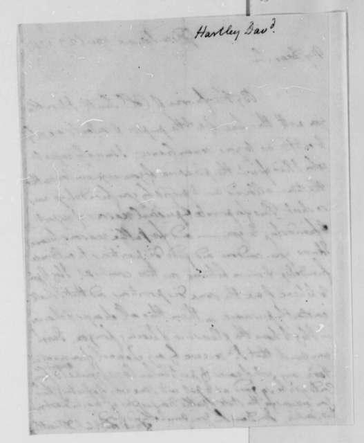 David Hartley to Thomas Jefferson, April 23, 1787