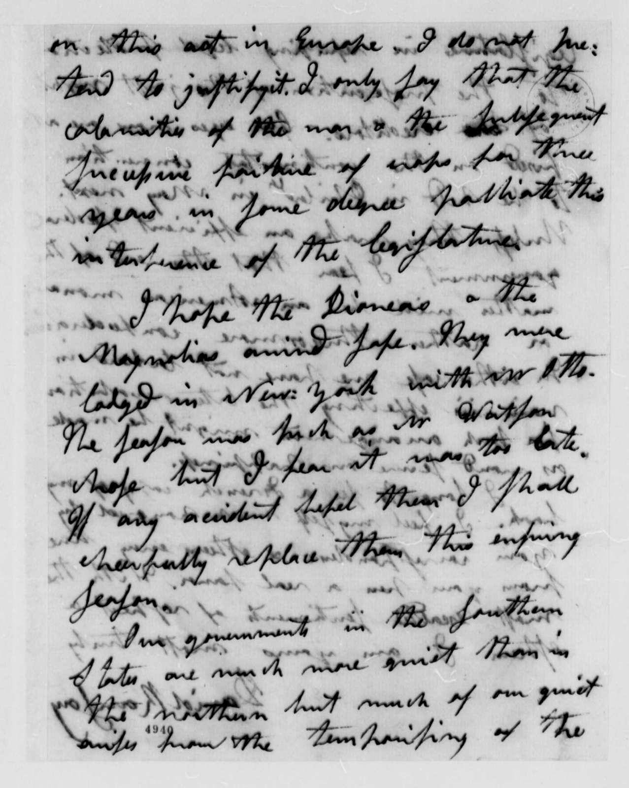 David Ramsay to Thomas Jefferson, April 7, 1787