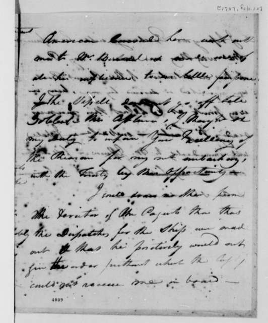 David S. Franks to John Jay, February 10, 1787