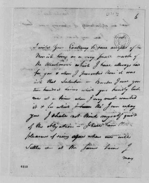 David S. Franks to Thomas Jefferson, 1787