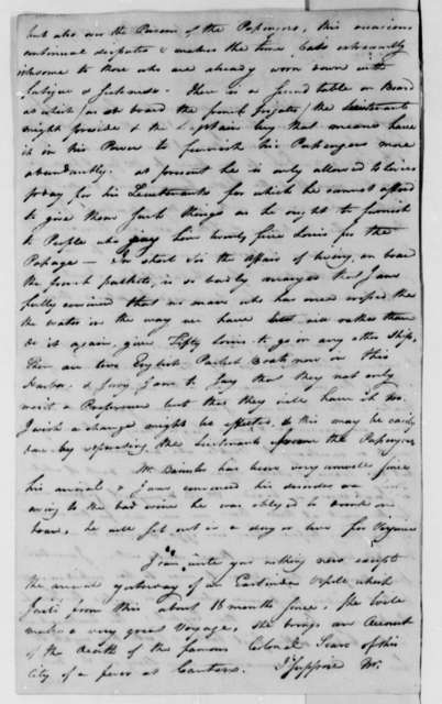 David S. Franks to Thomas Jefferson, April 23, 1787