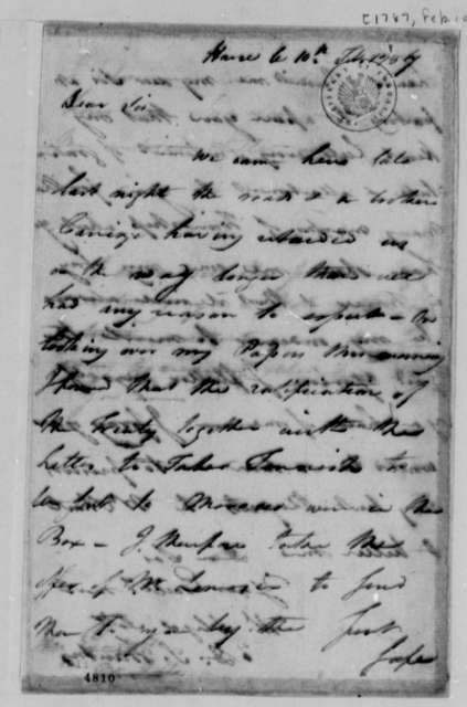 David S. Franks to Thomas Jefferson, February 10, 1787