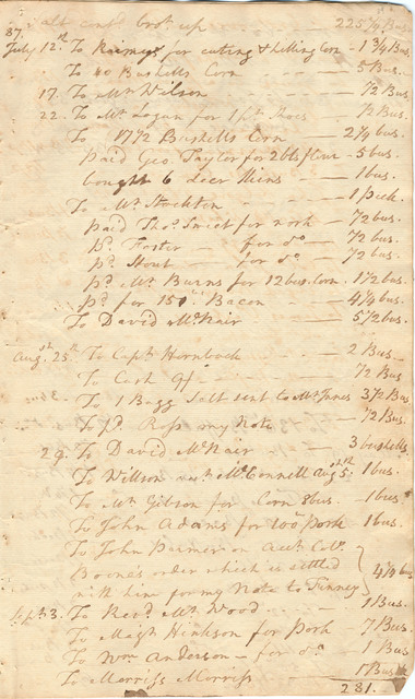 Day book and ledger containing a record of salt sales and barters