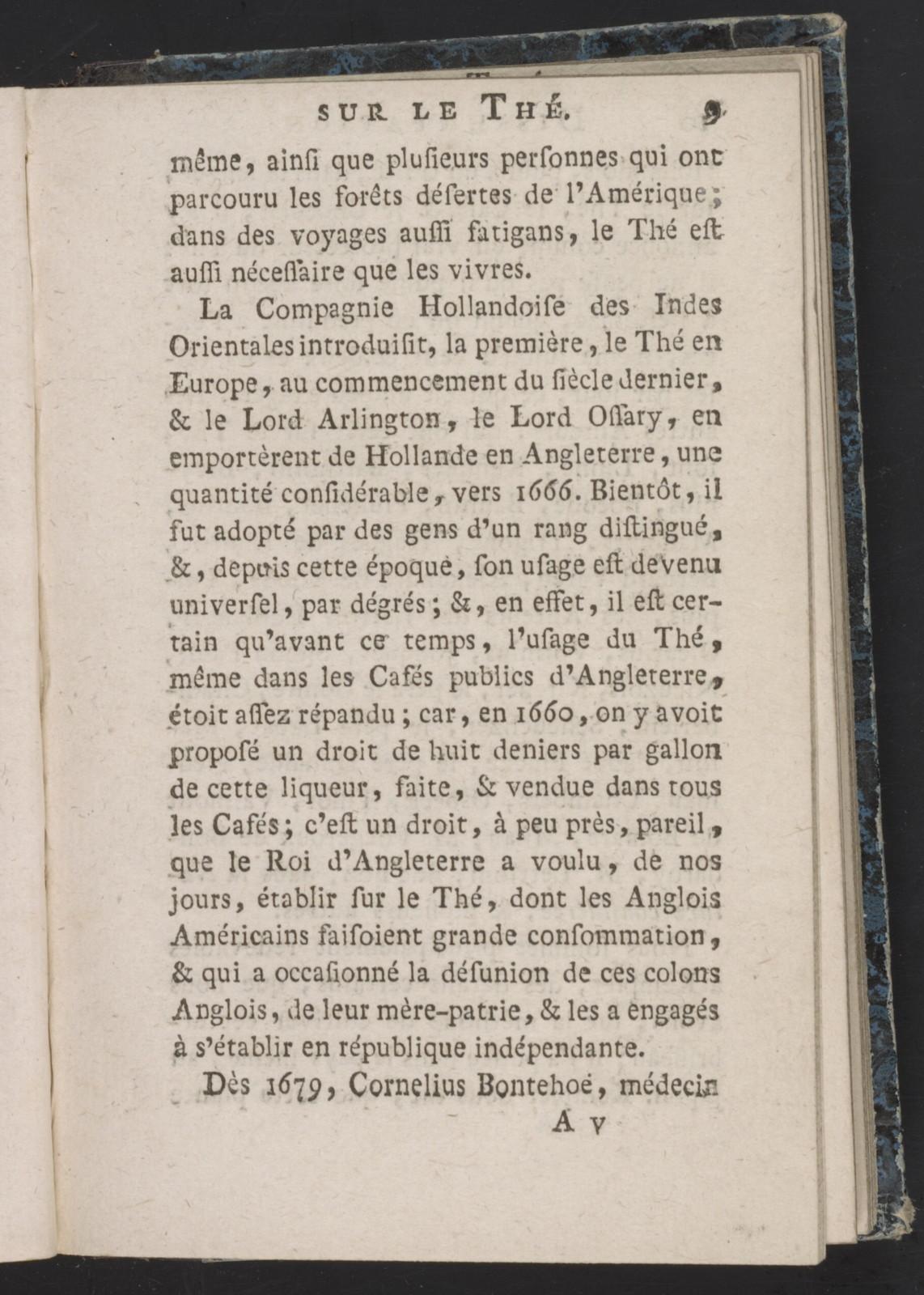 Dissertation sur le the.