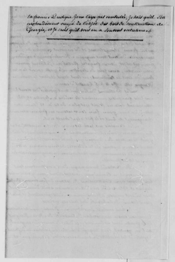 Du Plessis to Charles, Marquis de Castries, July 1, 1787, in French