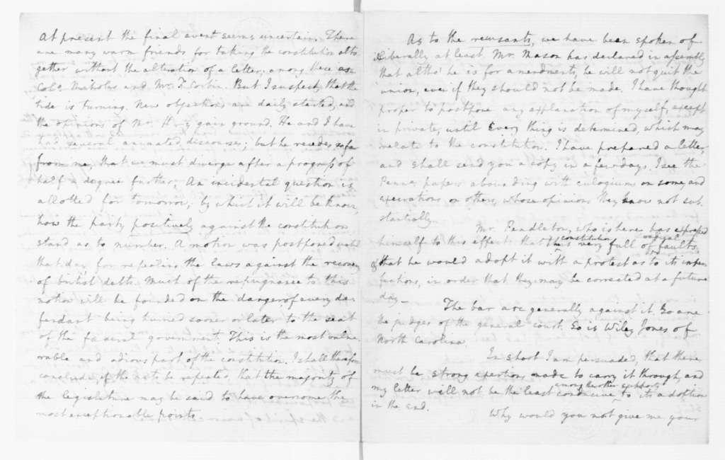 Edmund Randolph to James Madison, October 23, 1787.