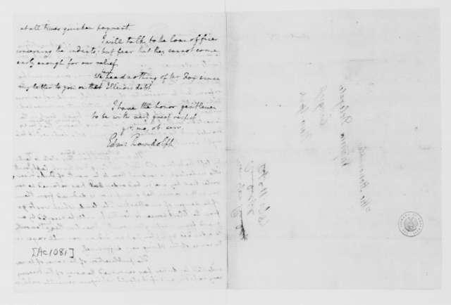 Edmund Randolph to Virginia Congressional Delegates, April 11, 1787.
