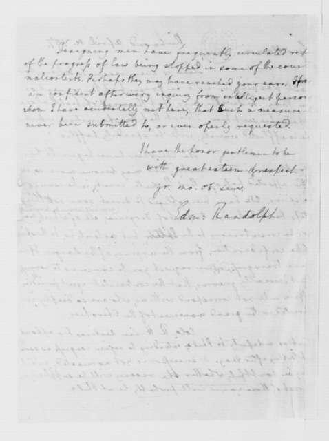 Edmund Randolph to Virginia Congressional Delegates, April 4, 1787.