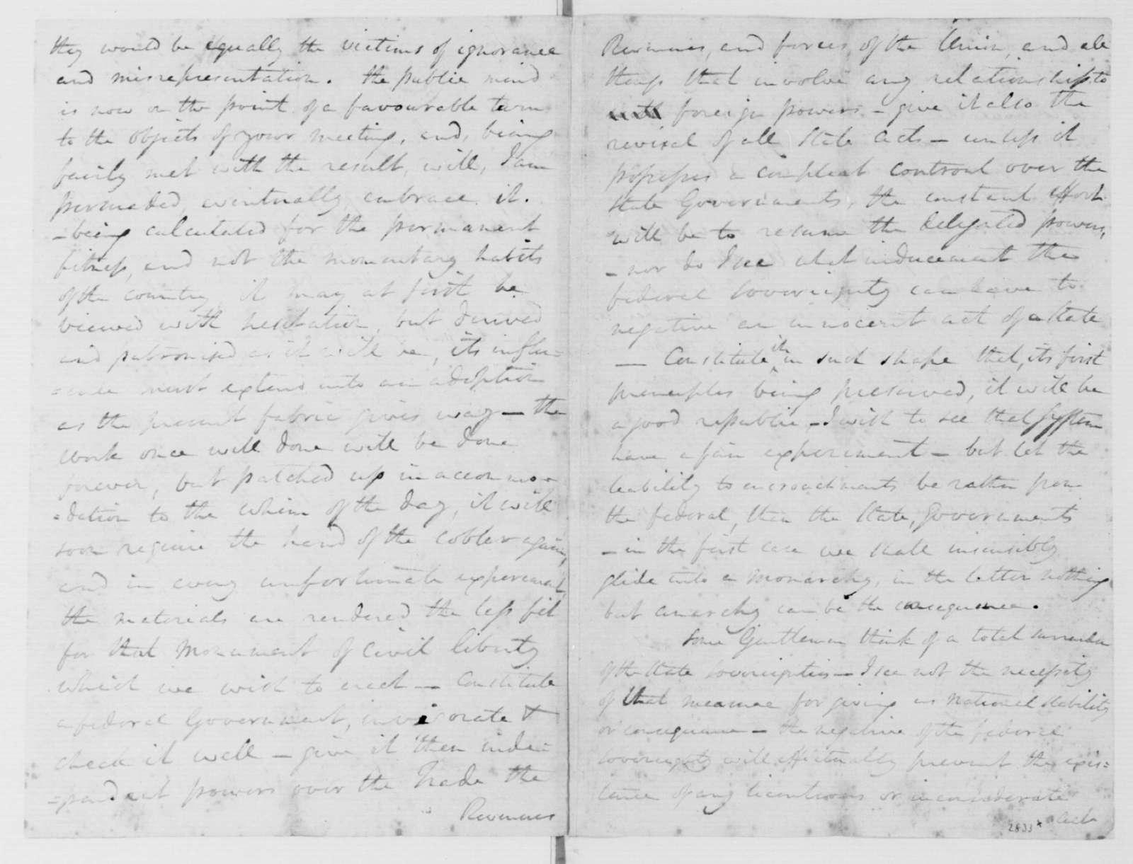 Edward Carrington to James Madison, June 13, 1787.