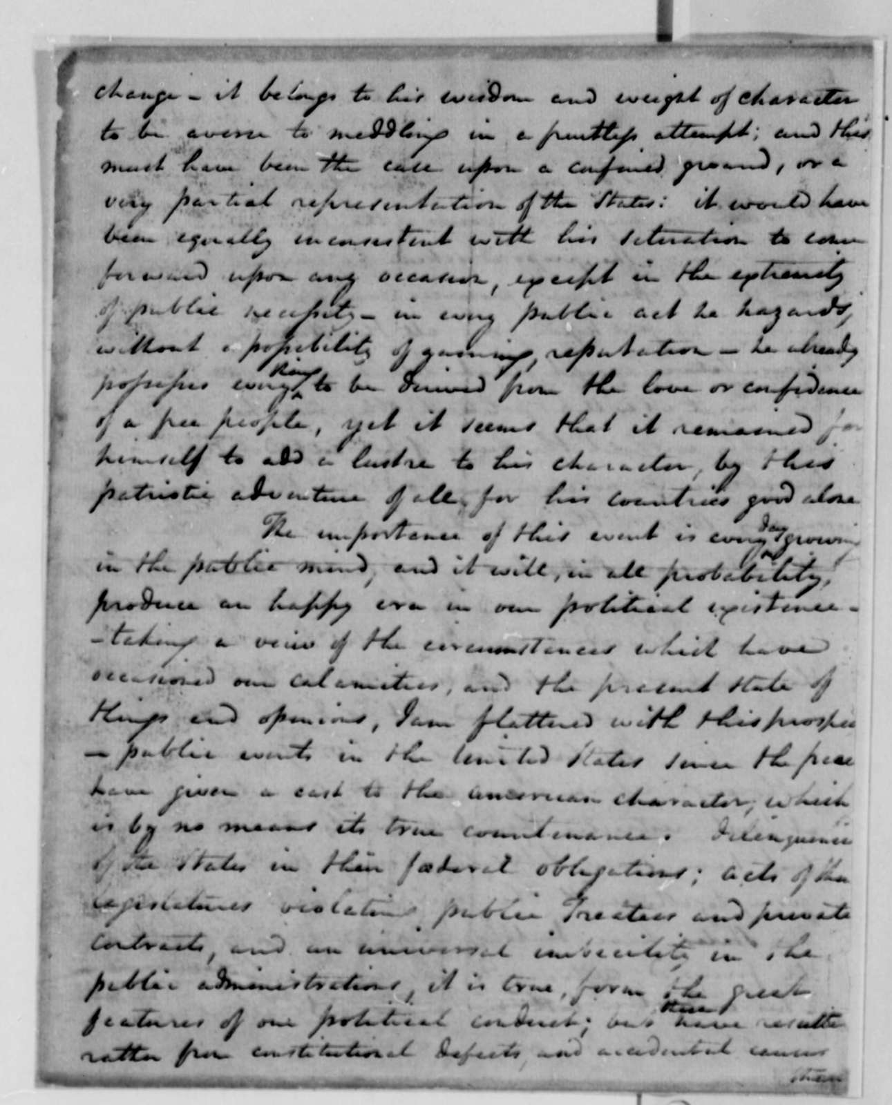 Edward Carrington to Thomas Jefferson, June 9, 1787