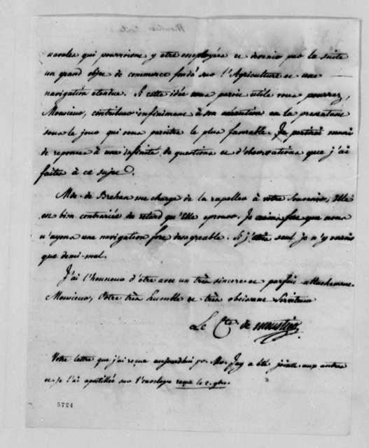 Eleonore Francois Elie, Comte de Moustier to Thomas Jefferson, November 2, 1787