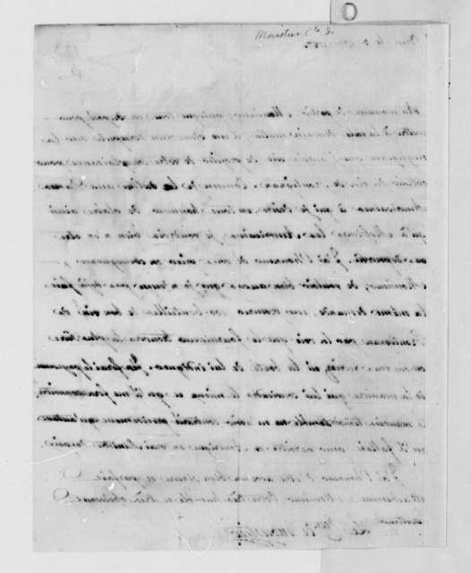 Eleonore Francois Elie, Comte de Moustier to Thomas Jefferson, November 3, 1787, in French