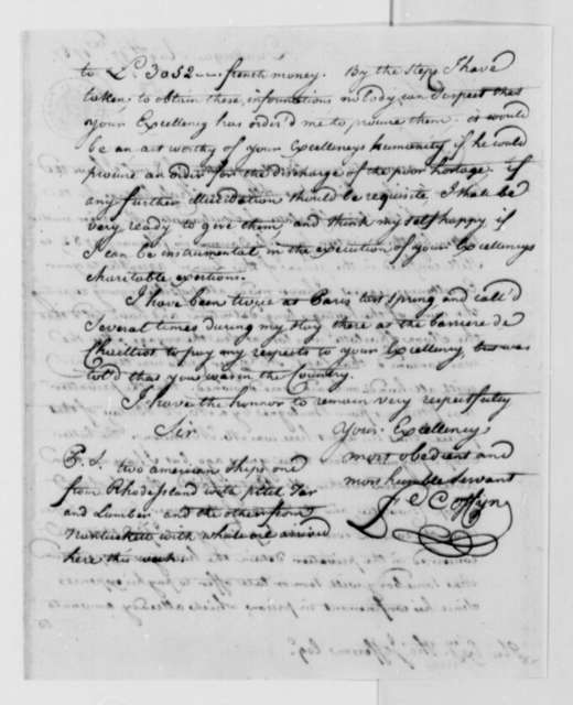 Francis Coffyn to Thomas Jefferson, August 17, 1787