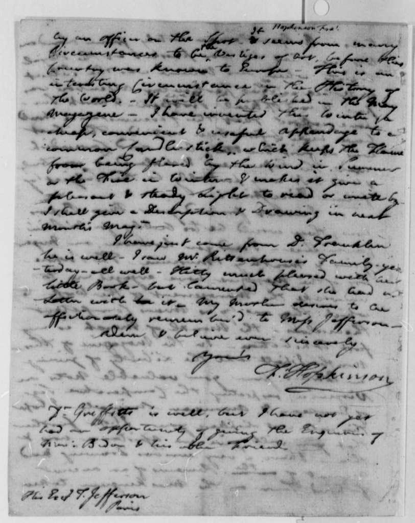 Francis Hopkinson to Thomas Jefferson, April 14, 1787