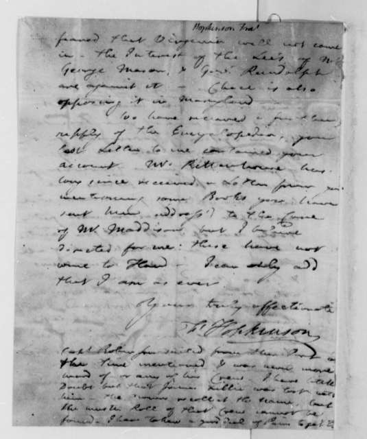 Francis Hopkinson to Thomas Jefferson, December 14, 1787