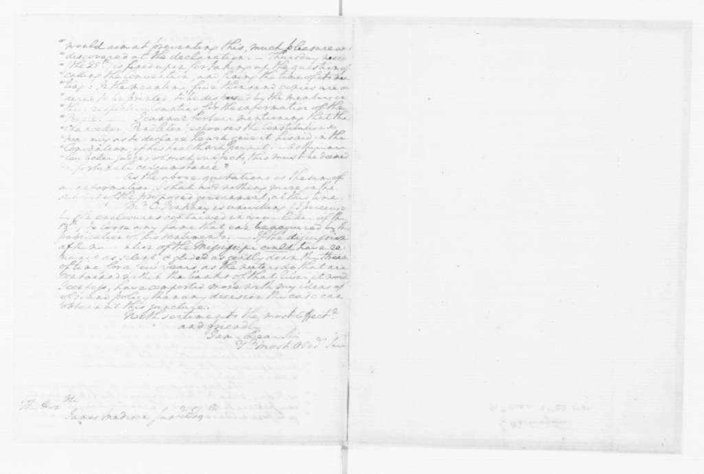 George Washington to James Madison, October 22, 1787.