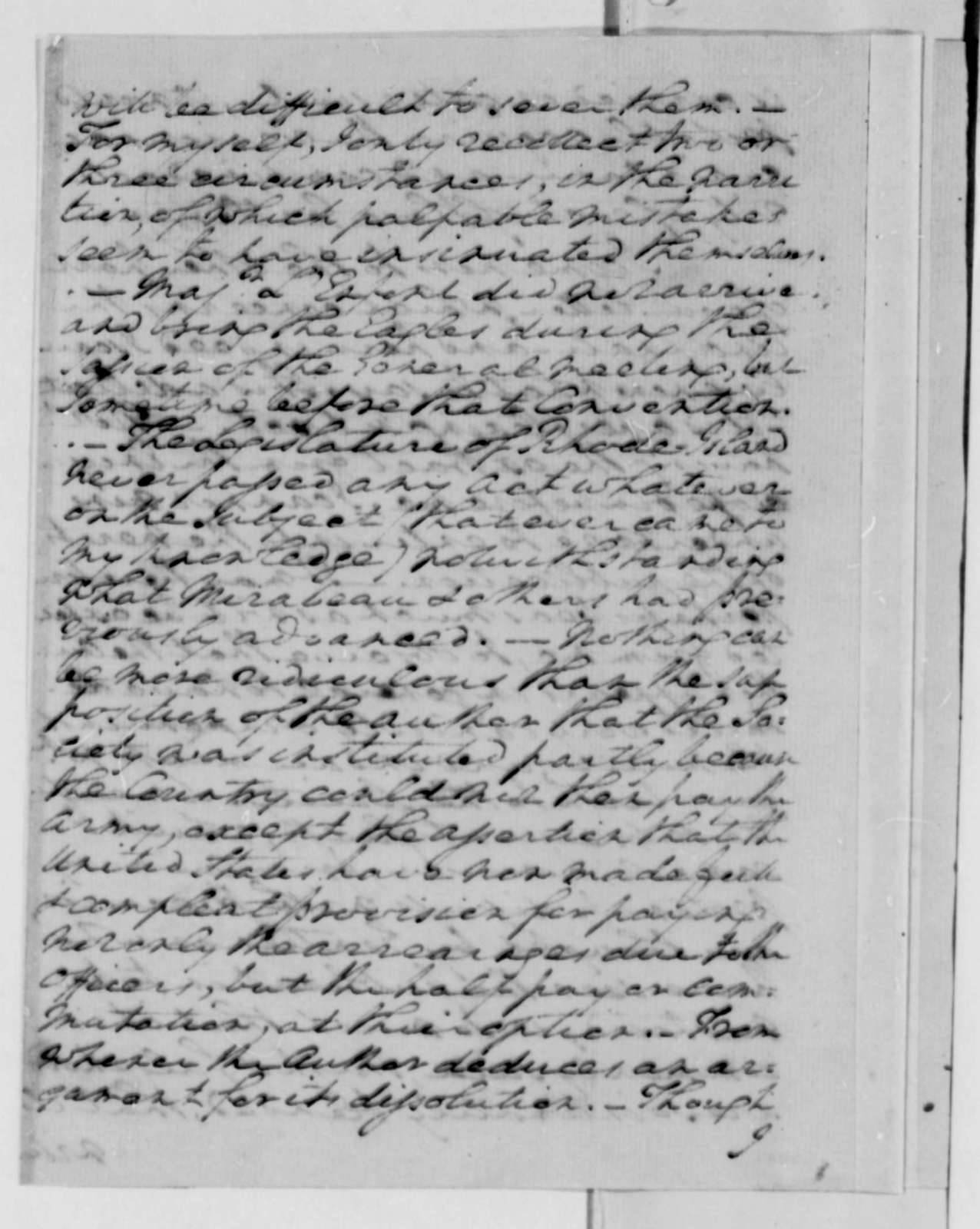 George Washington to Thomas Jefferson, May 30, 1787