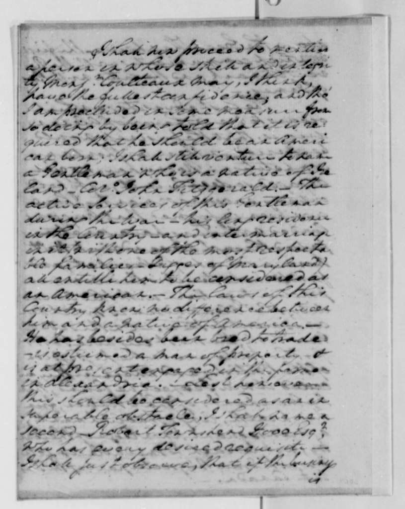 George Washington to Thomas Jefferson, May 30, 1787