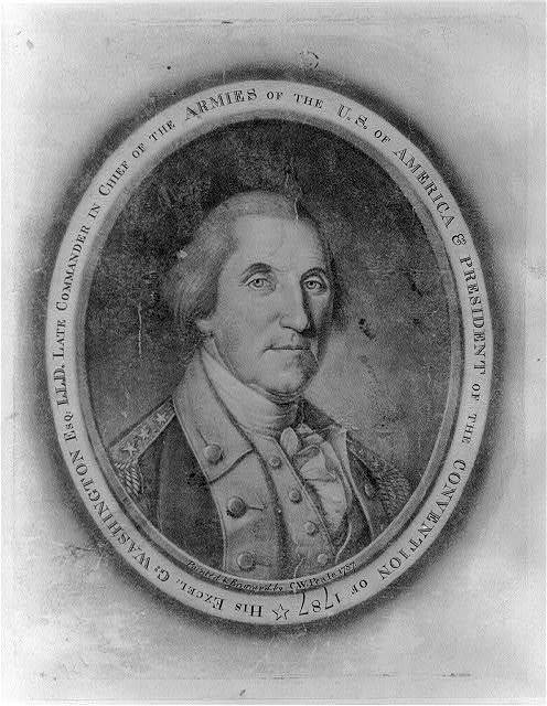 His Excel: G: Washington Esq: L.L.D. Late commander in chief of the armies of the U.S. of America & president of the Convention of 1787 / painted & engrav'd by C.W. Peale.