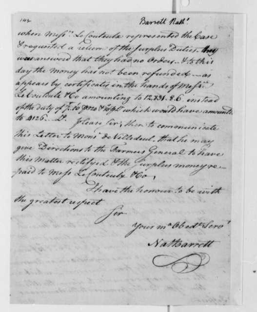 Isaac Barrett to Thomas Jefferson, July 11, 1787