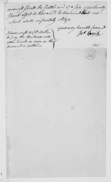James Craik to James Madison, February 21, 1787.