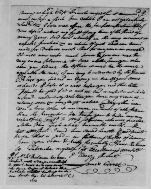 James Currie to Thomas Jefferson, May 2, 1787, Enclosed with John Ammonet Letter of May 10, 1787