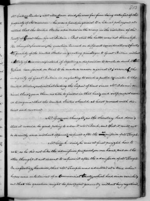 James Madison, February 19, 1787. James Madison notes for the Continental Congress Debates, from Feb. 19, 1787 to April 26, 1787.