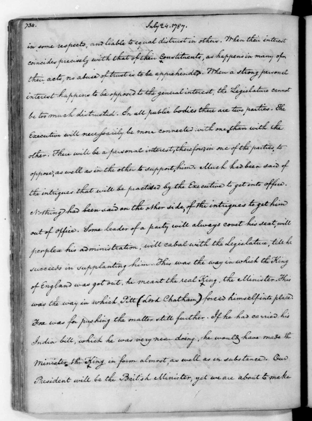 James Madison John C. Payne. John C. Payne's Copy of James Madison's Original Notes on Debates in the Federal Convention of 1787.