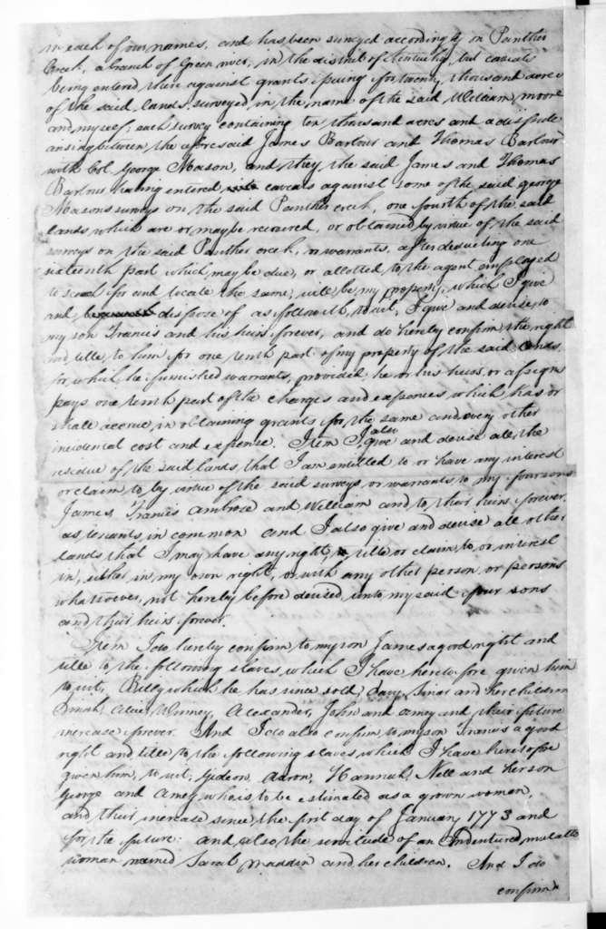 James Madison, September 17, 1787. Copy of James Madison's Will.