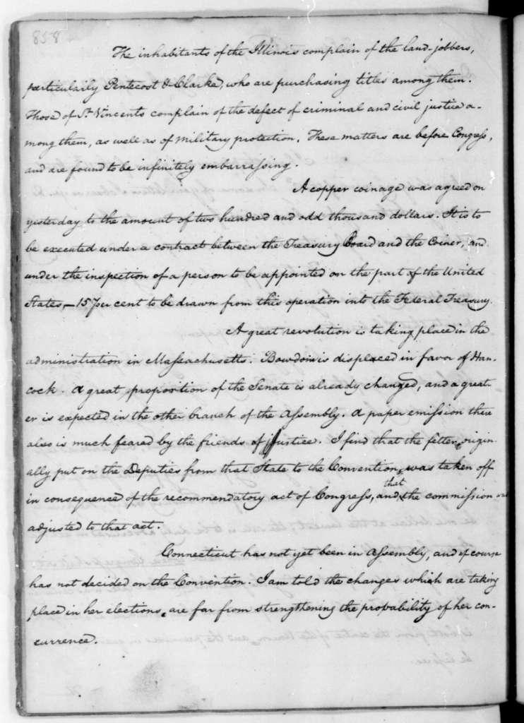 James Madison to Edmund Randolph, April 22, 1787.