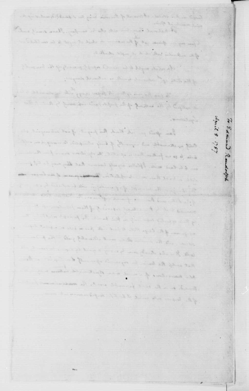 James Madison to Edmund Randolph, April 8, 1787.