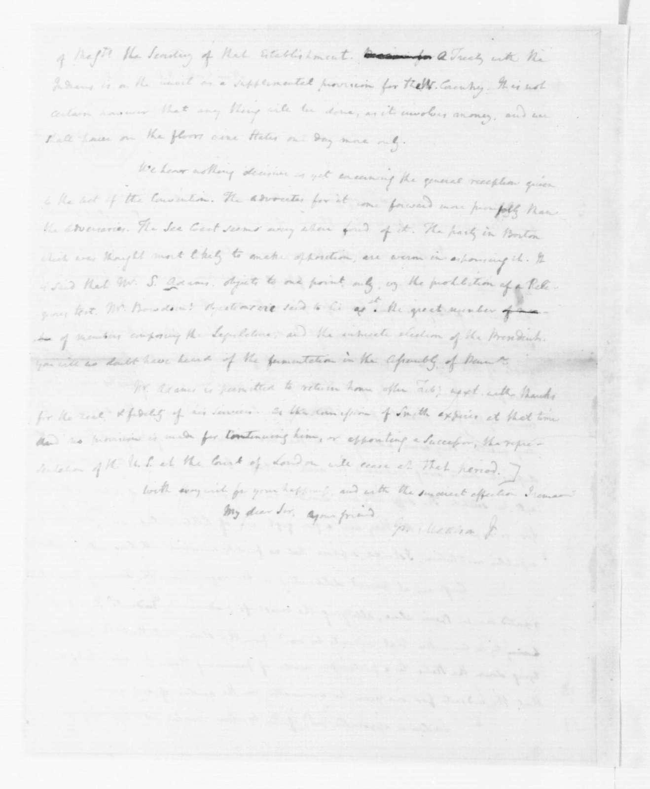 James Madison to Edmund Randolph, October 5, 1787.