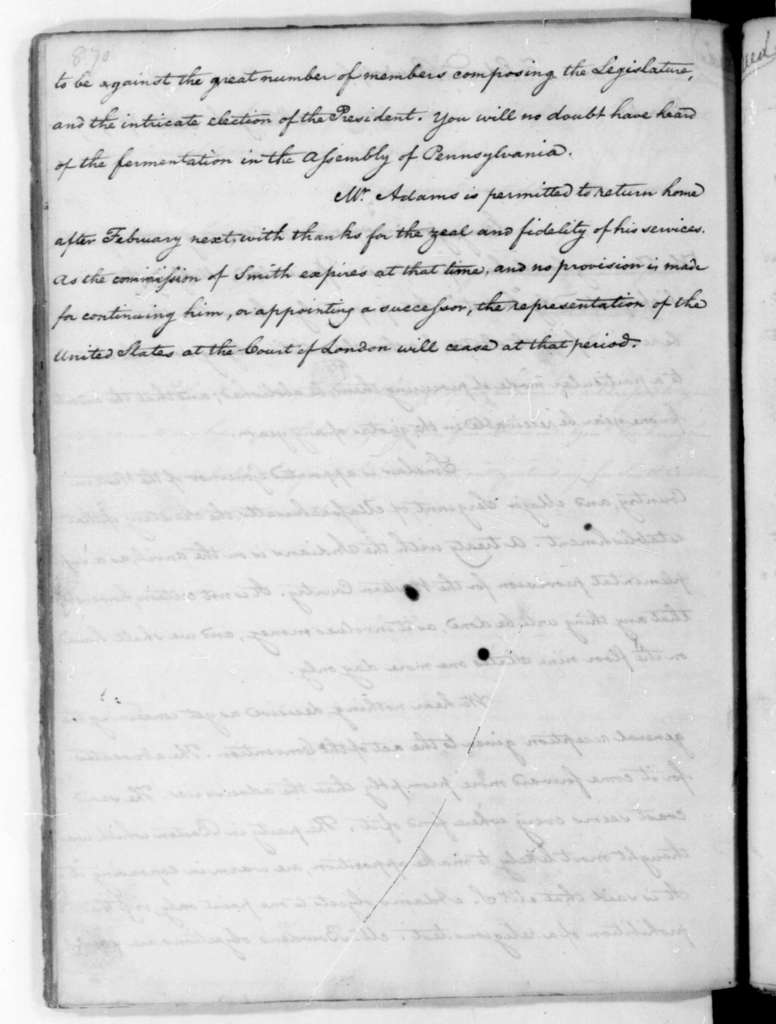 James Madison to Edmund Randolph, October 7, 1787.