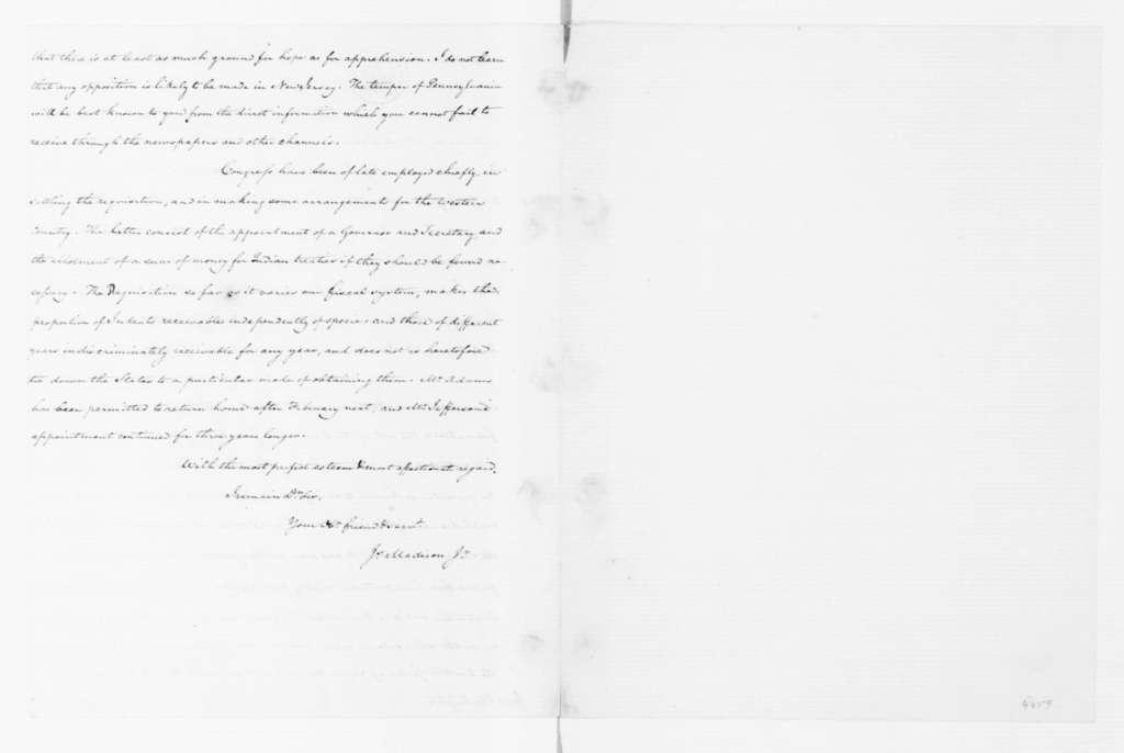 James Madison to George Washington, October 14, 1787.